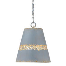 Golden 0803-M CLB - Isabel 1-Light Pendant in Colonial Blue Finish