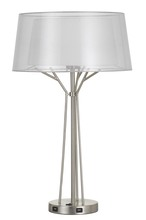 CAL Lighting BO-2759TB - 100W Lawton Metal Desk Lamp With Translucent Shade And 2 USB Ports