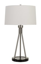 CAL Lighting BO-2838TB - 150W 3 Way Halle Metal Table Lamp With Two USB Charging Ports