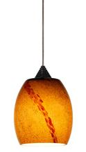 "CAL Lighting UPL-706/10-BS - 5.13"" Tall Glass And Metal LED Pendant With Rust Cord"